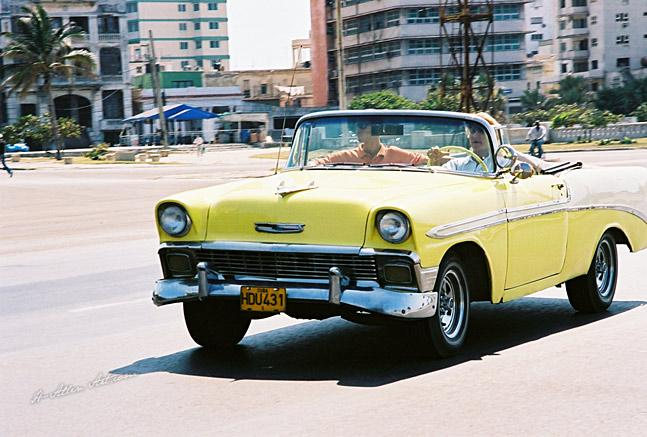 1956 Yellow/White Bel-Aire Chevy Convertible