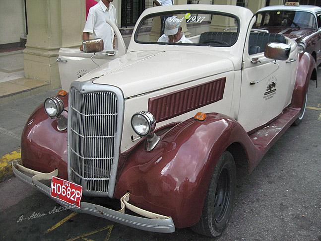 1937 Burgundy/White Ford Convertible