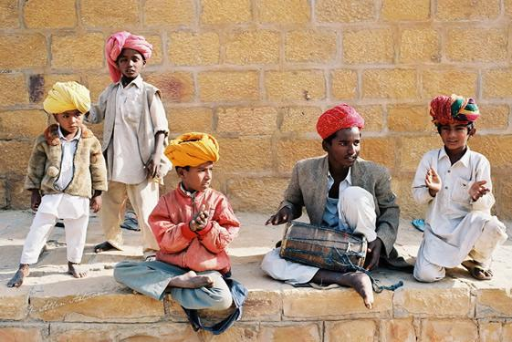 Boy Band, Sandstone Fort, Jaisalmer, Rajasthan, India