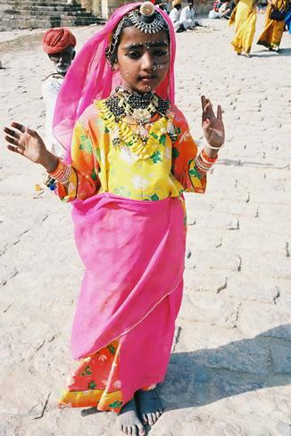 Child Dancer, Rajasthan, India