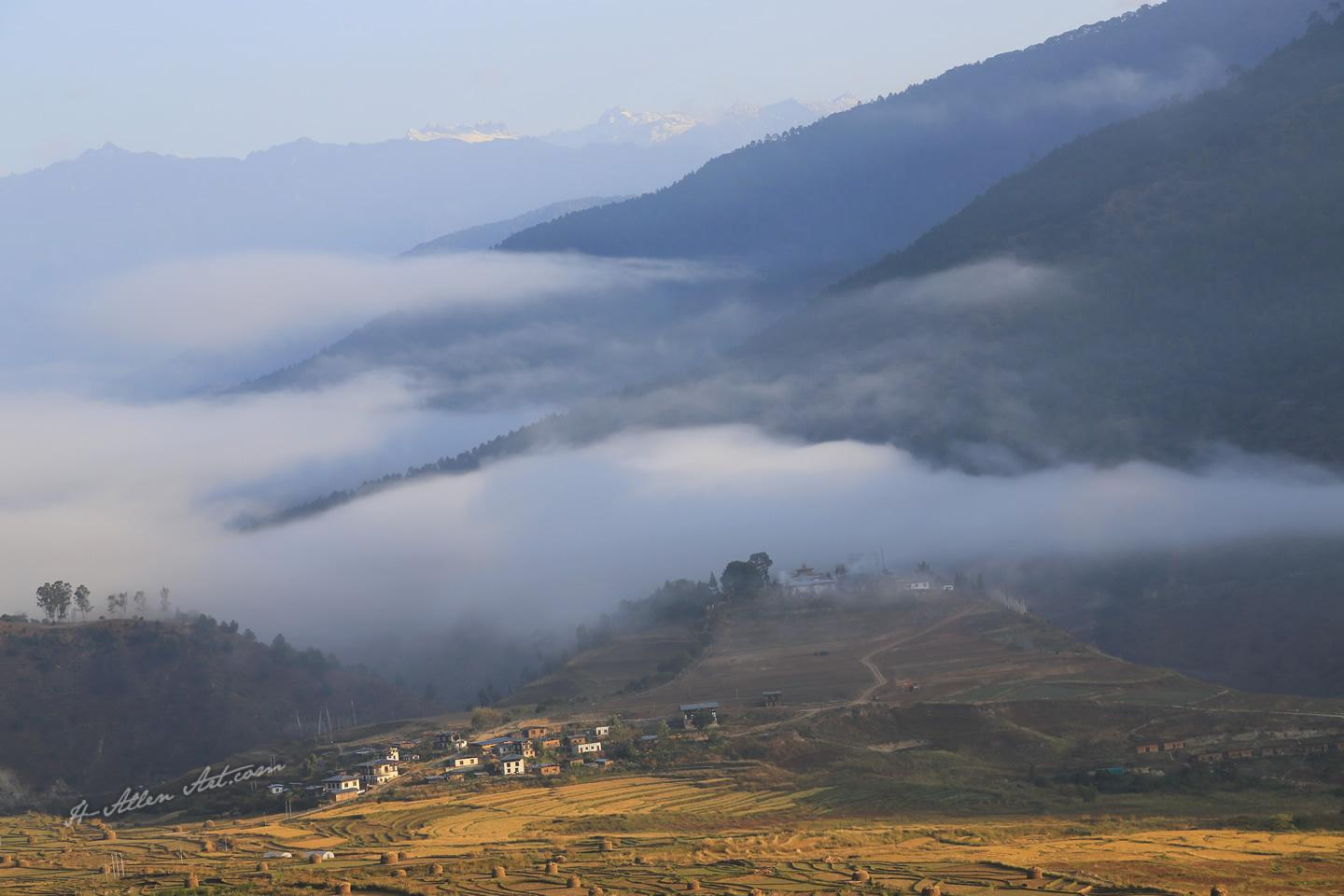 Bhutanese Landscape, Chumey Valley road to Bumthang, Bhutan